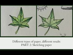 DIfferent type of paper, different results, PART 2 Sketching Paper
