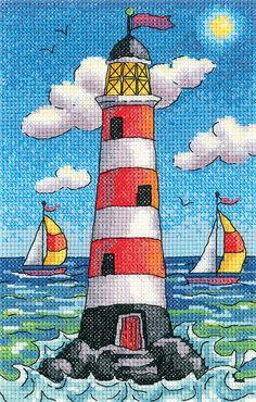 Lighthouse by Day - Heritage Crafts cross stitch kit