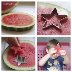 Use a cookie cutter to make fun shapes in your fruit! Such a fun and easy idea!