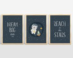 Space nursery wall art from Sunny and Pretty. Space nursery wall art perfect for a modern, simple space themed nursery decór. Nursery art and nursery prints to complete your nursery decor project. Our nursery wall art is made with love and is designed to reflect your nursery wall decor style. 🖤 Get excited about decorating for your little one! #sunnyandpretty Nursery Drawings, Nursery Artwork, Nursery Paintings, Kids Room Wall Art, Nursery Wall Decor, Baby Room Decor, Nursery Themes, Nursery Prints, Bedroom Prints
