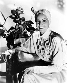 Greta Garbo, the rare smile.
