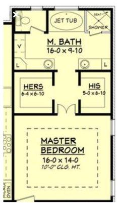 Master Bedroom Addition, Master Bedroom Plans, Bedroom With Bath, Master Bedroom Bathroom, Bedroom Floor Plans, Closet Bedroom, Bath Room, Master Master, Bedroom Addition Plans