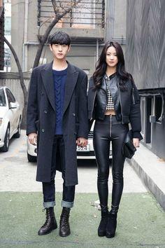 //Beautiful couple in Seoul <3