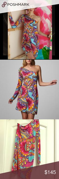 Lilly Pulitzer Whitaker One Shoulder Dress Lilly Pulitzer Whitaker Optical Confusion One Shoulder Dress Size XS. Lilly Pulitzer Dresses One Shoulder