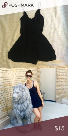 Black topshop romper Good condition worn a few times! So cute on! Topshop Dresses