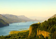 View of Columbia River Gorge.