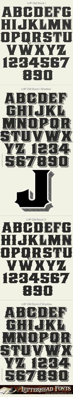 Letterhead Fonts / LHF Old Stock font set / Stock Certificate Fonts