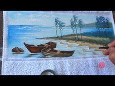 Barcos e Praia em Tecido (Aula 88) - YouTube