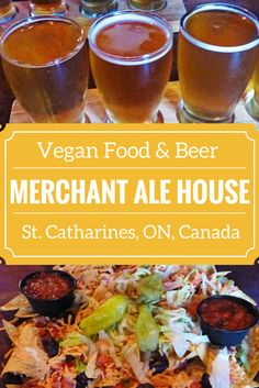 Merchant Ale House in St. Catharines, Ontario, Canada - they brew their own beer here, and you can find loads of vegan food on the menu! http://justinpluslauren.com/merchant-ale-house-st-catharines-on/