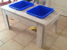 Zand en watertafel van steigerhout door Martin. www.vanmeursverbouw.nl www.facebook.nl/vanmeursverbouw