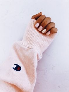 What manicure for what kind of nails? - My Nails Cute Acrylic Nails, Cute Nails, Pretty Nails, Hair And Nails, My Nails, Short Nails, Nail Inspo, Nails Inspiration, Pink Nails