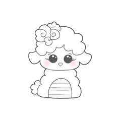 Design Info: Floral Fuzzy Lamb Size Info: Please see schematic (third photo) for all sizing information. Cute Coloring Pages, Coloring Sheets, Doodle Drawings, Doodle Art, Baby Art Crafts, Paper Crafts, Schematic Drawing, Hello Kitty, Cute Easy Drawings
