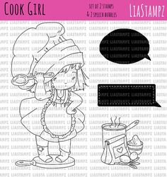 recipe book LiaStampz from LiaStampzShop on Etsy Studio Sweet Girls, Cute Girls, Digi Stamps, Craft Fairs, Digital Image, My Images, Crafts To Make, My Design, Paper Crafts