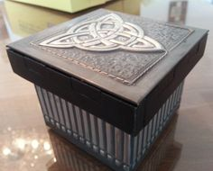 Box with Celtic Design done by Christine in her first lesson. Band stencilled to finish off and give balance.