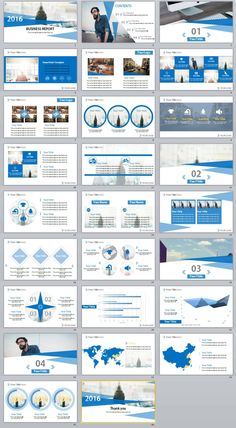 26+ Blue Business report Powerpoint Templates | The highest quality PowerPoint Templates and Keynote Templates download