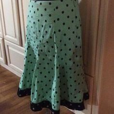 Skirt Green with Black Midi Skirts Mini