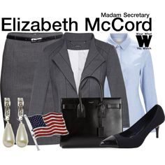 Inspired by Tea Leoni as Elizabeth McCord on Madam Secretary. #television #wearwhatyouwatch