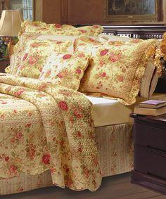 Antique Rose Quilt Set #zulily #zulilyfinds