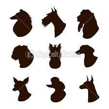 Resultado de imagen para perro salchicha dibujo silueta  Siluetas