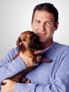 Dachshund Norm Macdonald with his pup Dachshund Breed, Long Haired Dachshund, Dachshund Love, Daschund, Vintage Dachshund, Funny Dachshund, Norm Macdonald, Clever Dog, Miniature Dachshunds