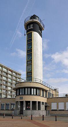De vuurtoren van Blankenberge die nog effectief in werking is en ook een museum bevat.