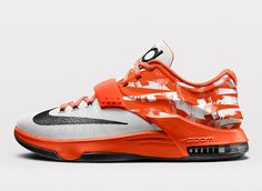 Nike KD 7 iD Wild West Option The Nike KD 7 Texas is releasing soon, and dropping with them is the option to add the Wild West. Kicks Shoes, Kd Shoes, Nike Free Shoes, Me Too Shoes, Air Jordan 9, Air Jordan Future, Nike Id, Kevin Durant Shoes, Kd 7