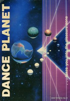 Dance Planet 1990s rave poster flyer