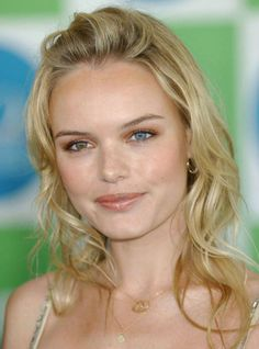 Kate Bosworth's blue and brown eyes.