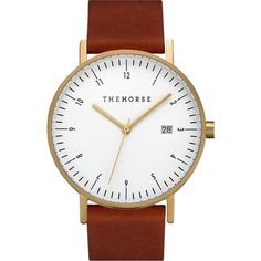 The Horse D Series Gold Watch | Tan