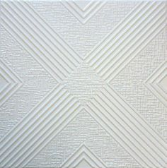Malta R34W 20 x 20 Tin Looking Styrofoam Glue Up White Ceiling Tile by Euro-Deco Ceilings, Inc.. $2.94. Easy to clean with ordinary cleansers. Easy to install (mounted with usual mastic adhesives). Can be painted with emulsion, acrylic or other water-based paints. Easy to cut. May be applied over popcorn ceilings. The Royal Collection tiles are made out of extruded polystyrene (a type of styrofoam) which makes them even, thin, and offers a smooth surface, with g...
