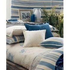 ralph lauren's jamaica house | Ralph Lauren CATALINA ISLAND Blue Cream Quilt Blanket KING (I like the bedding for the guest house)