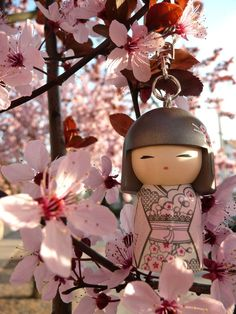 """Japanese Kokeshi Doll Yumika """"Kindness"""" My spirit is receptive and responsive. Always open and responsive to the needs of others you share the spirit of kindness. With your kind-hearted ways may you always be remembered with love and gratitude."""