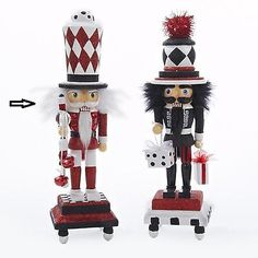 Nutcrackers 177743: 13 Hollywood Red, Black And White Glitter Base Wooden Christmas Nutcracker -> BUY IT NOW ONLY: $36.99 on eBay!
