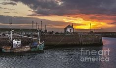 Maryport Harbour At Sunset by Ian Lewis Cumbria, Coast, America, Fine Art, Wall Art, Sunset, Image, Sunsets, Visual Arts
