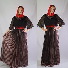 EID dress by OC fashion design . With detalies on neck  coming with belt and Sheila .