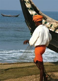 Fisherman on the coast of South #India