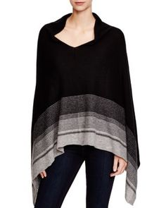 C by Bloomingdale's Striped Cashmere Poncho | Bloomingdale's
