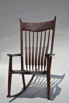 Black Walnut Maloof-Style Rocking Chair