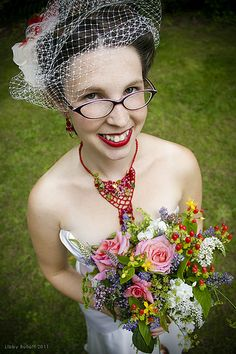 Brides in glasses