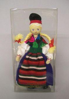 "Vintage 7"" Charlotte Weibull Cloth Swedish Folk Costume Doll Rattvik Sweden"