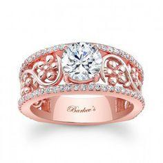 Rózsaszín arany eljegyzési gyűrű  3/ Rose gold engagement ring 3