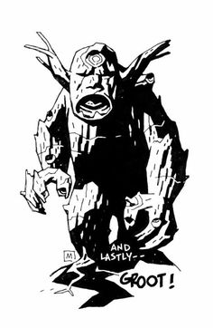 Groot by Mike Mignola