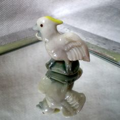 Wade Whimsie: Cockatoo figurine from First Whimsie Collection 1957/61 via Etsy.