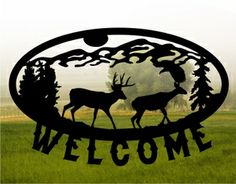 Metal cut country sign from MetalDesignWorx.com Can be personalized! Many designs!!