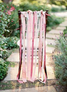 [by Jose Villa] rose pink chair wedding