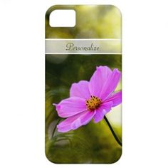 Elegant Evening #Pink Cosmos #Wildflower With #Name #iPhone5 Covers by #littleflowershop on #Zazzle!