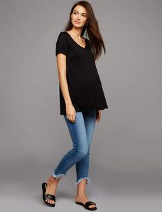 a13dbb321d813 7 For All Mankind Pea Collection Secret Fit Belly Roxanne Ankle Maternity  Jeans