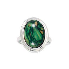 Heathergem Oval Ring - www.heathergems.com made in Scotland. Jewelry made from branches of Scottish heather plants.