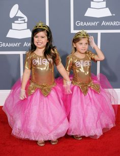 How cute! Sophia Grace and Rosie were special red carpet correspondents for the Ellen Show.