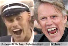 - Fire Marshall Bill (Jim Carrey) Totally Looks Like Gary Busey